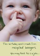 Humorous Boogers Birthday Card